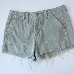 AMERICAN EAGLE Utility Shorts Button Fly Cut Offs